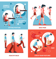Posture 2x2 Design Concept Set vector image vector image
