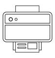 Printer icon outline line style