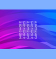 purple-blue futuristic digital wave vector image vector image