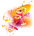 Rainbow party drinks vector image