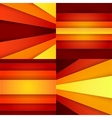 Red orange and yellow paper layers abstarct vector image