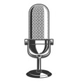 retro microphone isolated on white background vector image vector image
