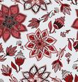 romantic doodle floral pattern vector image vector image