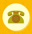 round icon old retro green telephone symbol vector image vector image