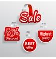 Sale wobbler set vector image
