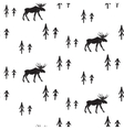 Scandinavian simple style black and white deer vector image vector image