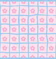 seamless flower print ongoing pattern of vector image vector image