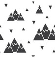 seamless pattern made of mountains and vector image