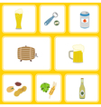 Seamless pattern with beer icons vector image vector image