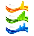 Set of banners with diagram vector image