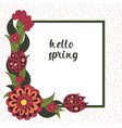 spring postcard cover bright background for vector image vector image