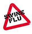 swine flu rubber stamp vector image vector image
