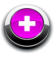 Switzerland 3d round button vector image vector image