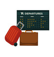 travel airplane world trip flight icon of vector image vector image