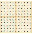 Vintage polka dot texture background vector image