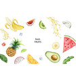 watercolor hand painted card exotic vector image vector image