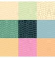 Wavy lines seamless pattern set vector image vector image