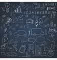 Wight doodle elements of business infographic vector image vector image