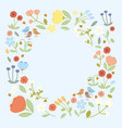 with flowers collection vector image vector image