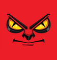 comic faces show angry vector image