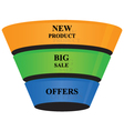 3d cone shape business growth banner icon