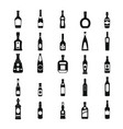 alcohol bottles set vector image vector image