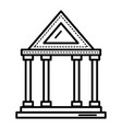 bank building isolated icon vector image vector image