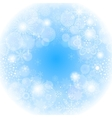 Blue snowflakes light winter background vector image vector image
