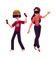 boy and girl wearing virtual reality headsets