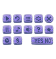 Buttons square small purple vector image
