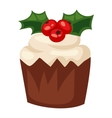Christmas cake isolated icon vector image vector image