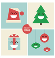 Christmas cartoon design elements vector image