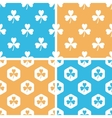 Clover pattern set colored vector image vector image