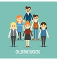 Collective success banner with business peole vector image vector image