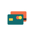 credit cards icon flat vector image