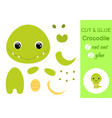 cut and glue bacrocodile education developing vector image vector image