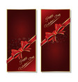 dark red valentines background set vector image vector image