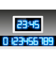 digital clock with a set of numbers vector image vector image
