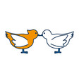 doves birds icon vector image