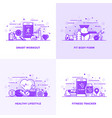 flat line purple designed concepts 8 vector image