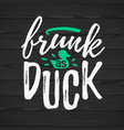 frunk as duck funny handdrawn dry brush style vector image vector image