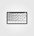 game domino playing vector image vector image