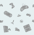 gamepad and game console background 09 vector image vector image