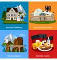 Germany Travel Flat Concept vector image