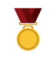 golden medal icon image vector image