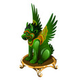 griffin figurine made of jade isolated on white vector image vector image