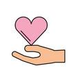 Hand holding heart donation charity healthy