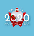 Happy new 2020 year cute christmas design with 3d