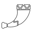horn viking icon black color flat style image vector image
