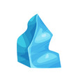 icy cliff iceberg vector image